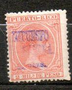 PUERTO RICO   Guerre Alphonse XIII 1898 N°3 - Puerto Rico
