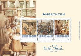 Nederland  2017    ANTON PIECK   AMBACHTEN M/S   Postfris/mnh/neuf - Periode 1980-... (Beatrix)