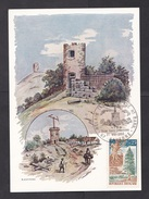 France: Maximum Card, 1968, 1 Stamp, Cancel Telegraph Tower Communication, History (traces Of Use) - France