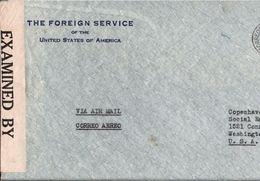 ! Long Format Cover 1942 Guatemala, American Legation, USA Foreign Service, Censor, Cesure, Zensur, Botschaft - Guatemala