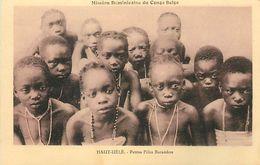 Réf : A-18 Pie Tre-1109 : CONGO BELGE. HAUT-UELE  PETITES FILLES BARAMBOS - Congo Belge - Autres