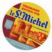 Jan18    55056   étiquette Fromage   Le St Michel   Laiterie De Bras Meuse - Cheese