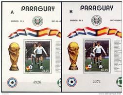 Soccer Football Paraguay Bl 372 A + B 1982 World Cup Spain MNH ** - 1982 – Espagne