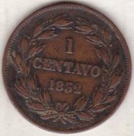 Venezuela. 1 Centavo 1852 . LIBERTAD . Copper. Y# 6 - Venezuela