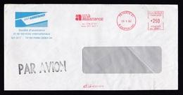 France: Cover, 1983, Meter Cancel UAP Assistance, Travel Aid, Tourism (traces Of Use) - Frankrijk