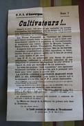 Affiche Originale -12 Août 1944 FFI Auvergne Secteur Brioude (Langeac, Ste Florine,..) Réquisition Denrées Agricoles - 1939-45