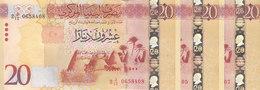 LIBYA 20 DINARS 2015 2016 P-83 LOT X3 UNC NOTES */* - Libië