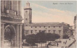 458  AQUILA PIAZZA DEL PALAZZO ANIMATA 1940 CIRCA - L'Aquila