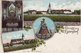 Litho GRUSS AUS MARIA ENZERSDORF, Gel.1913 Nach Pöstyen, Nachporto - Maria Enzersdorf