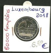 2 Euro Commémo  LUXEMBOURG 2018 RARE - Luxembourg