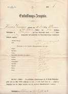 Entlassungszeugnis Aus Dem Jahr 1871, Volksschule Klamm, Dokument Gefaltet, Größe 37 X 22 Cm, - Diploma & School Reports