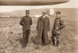 France Lamotte Breuil Aviation Dirigeable Clement Bayard Pilote Ancienne Photo Rol 1911 - Aviation