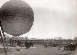 France Aviation Ballon Louis Godard Officiers Bulgares Ancienne Photo 1911 - Aviation