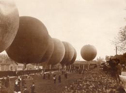 France St Cloud Aviation Vue Des Ballons Avant Le Depart Ancienne Photo 1911 - Aviation