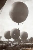 France Aviation Ballons Grand Prix De L'Aero Club Foule Ancienne Photo 1914 - Aviation