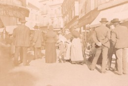 France Angouleme? Scene De Rue Animée Ancienne Photo Henri Billard 1893 - Photographs