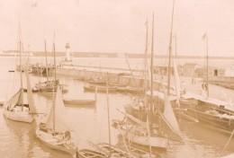 France Royan Port Voiliers La Jetee Et Le Phare Ancienne Photo Henri Billard 1893 - Photographs