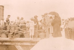 France Royan Bordeaux? Le Port Scene Animee Ancienne Photo Henri Billard 1893 - Photographs