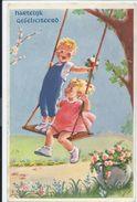 Jongen Meisje Op De Schommel – Ill. J. Lagarde -  Balançoire  -  A663 - Autres Illustrateurs