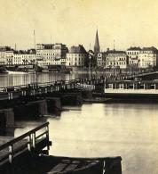 Allemagne Cologne Koln Le Pont De Bateaux Ancienne Stereo Photo Eisen 1880 - Photographs