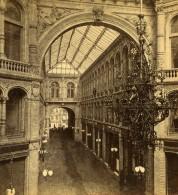 Allemagne Berlin-Mitte Kaisergalerie Interieur Ancienne Stereo Photo Stiehm Linde 1880 - Photographs