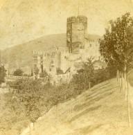 Allemagne Chateau De Burg Lahneck Ancienne Stereo Photo Jarvis 1890's - Photographs