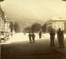 Autriche Tyrol Innsbruck Scene De Rue Rennweg Ancienne Stereo Photo 1890 - Photographs