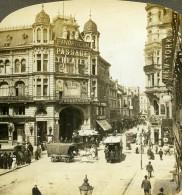 Allemagne Berlin Friedrichstrasse Scene De Rue Animee Ancienne Photo Stereo Rick 1900 - Photographs