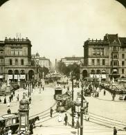 Allemagne Berlin Place Blucher Blücherplatz Ancienne Photo Stereo HC White 1900 - Photographs