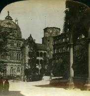Allemagne Heidelberg Cour Du Château Ancienne Photo Stereo HC White 1900 - Photographs