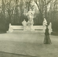 Allemagne Berlin Siegesallee Monument Friedrich Wilhelm Ancienne Photo Stereo Amateur 1919 - Photographs