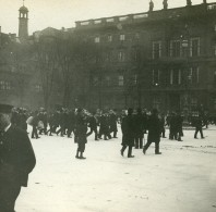Allemagne Berlin La Garde Devant Le Palais Impérial Ancienne Photo Stereo Amateur 1919 - Photographs
