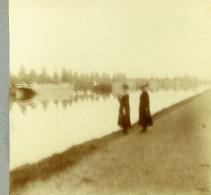 Belgique Schoten Hof Canal De Herentals? Ancienne Photo Stereo Amateur 1919 - Photographs