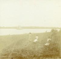 Belgique Austruwel Oosterweel La Riviere Escaut Schelde Ancienne Photo Stereo Amateur 1919 - Photographs