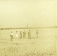 Belgique Anvers Plage Sainte Anne Sint-Anneke Ancienne Photo Stereo Amateur 1919 - Old (before 1900)