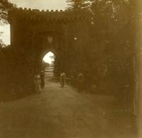 Belgique Brasschaet Polygone Château Du Mick Entrée Ancienne Photo Stereo Amateur 1919 - Photographs