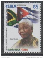 DIPLOMATIC RELATIONS, 2014, MNH, RELATIONS WITH SOUTH AFRICA, NELSON MANDELA, FLAGS,1v - Francobolli