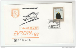 1993 ALBANIA FDC Stamps EUROPA, ART  Cover - Albania