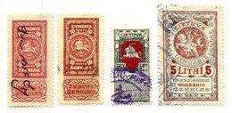LITHUANIA, Revenues, Used, F/VF, Cat. £ 25 - Lituanie