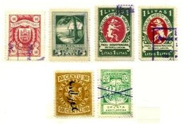 LITHUANIA, Revenues, Used, F/VF, Cat. £ 25 - Lithuania