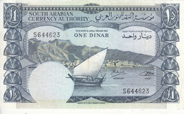 YEMEN YDR 1 DINAR 1965 P-3b VF PREFIX S */* - Yemen