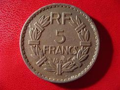 5 Francs Lavrillier 1945 3675 - France