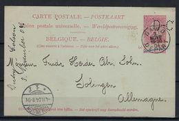 CARTE POSTAL N°29 MET PERFIN D-C GESTEMPELD Gand Depart NAAR Solingen Allemagne SUPERBE - Perforés