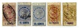 MAURITIUS, Revenues, B&H 17/21, Used, F/VF, Cat £ 20 - Maurice (...-1967)