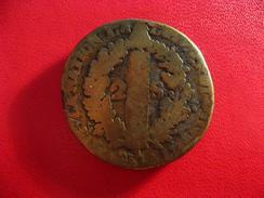 2 Sols 1792 AA Metz Louis XVI - Coulée, Métal Jaune Très Cuivré 5674 - 1789-1795 Period: Revolution