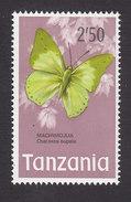 Tanzania, Scott #46, Mint Hinged, Butterflies, Issued 1973 - Tanzania (1964-...)