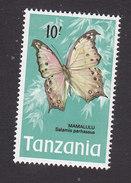 Tanzania, Scott #48, Mint Hinged, Butterflies, Issued 1973 - Tanzania (1964-...)