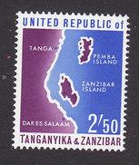 Tanzania, Scott #4, Mint Hinged, Map, Issued 1964 - Tanzania (1964-...)