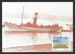Portugal Bateau De Pêche Carte Maximum 1995 Fishing Ship Maxicard - Maximumkaarten