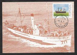 Portugal Bateau De Pêche Carte Maximum 1993 Fishing Ship Maxicard - Maximumkaarten
